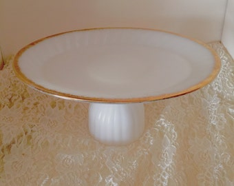 Fireking plate with gold trim edging