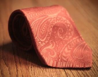 Vintage Burnt Orange Necktie