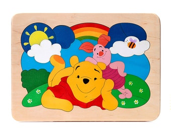 Vinney the Pooh - wooden puzzle, eco puzzle, wooden toy