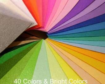 """40 Colors Eco-friendly Cotton Blend Felt Fabric Sewing Craft Solid Squares 12"""" For Crafters Limited Stock"""