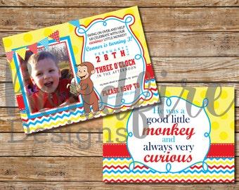 Curious George Birthday Invitation - Printable