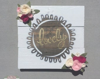 Lovely Rustic Wooden Sign