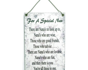 For a Special Nan' Wooden Hanging Sign 076