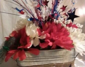 USA color flower arrangement