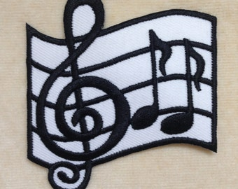 Musical Notation Note Iron On Patch
