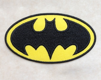 Batman Super Hero Iron On Patch #Yellow