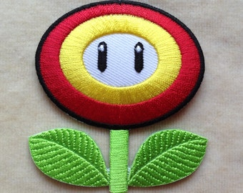 Fire Flower Super Mario Iron On Patch