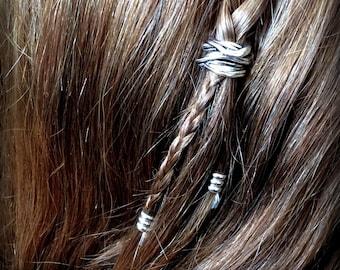 Four Bead Hair Bead Kit Viking hair beads Celtic hair beads boho gypsy bohemian steampunk hair beading