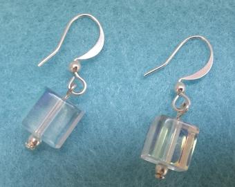 Transparent Cube Dangler Earrings
