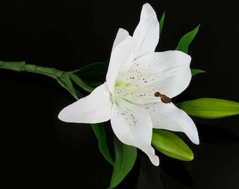 Lily White Artificial Flower | For bridal bouquets, Interior and decorations | Top Quality Artificial Flowers
