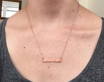 Textured Bar Necklace