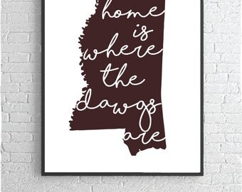 Mississippi State Home Poster Print
