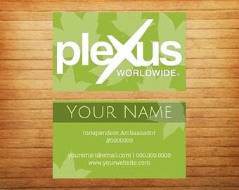 DIGITAL Green Leaf Business Cards