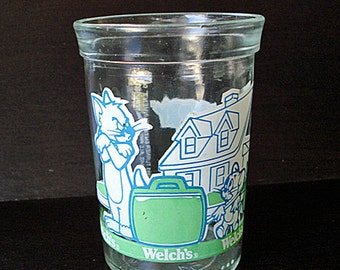 Tom and Jerry Jelly Jar Glass