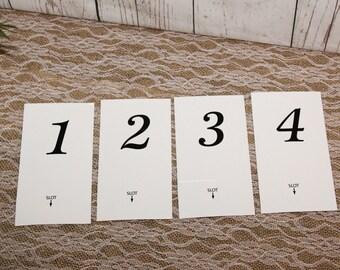 Table Number Holders/wedding number holders