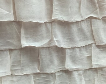 """2"""" ruffle fabric blush pink color sold by yard"""