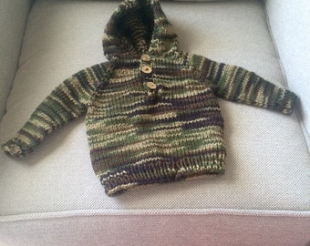 Classic Camo Hooded Pullover