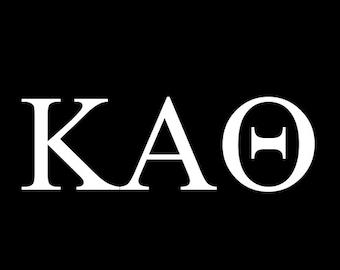 Theta YETI Decal // Kappa Alpha Theta Sticker // Kappa Alpha Theta Car Decal