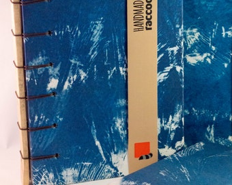 Handbound cyanotype sketch book