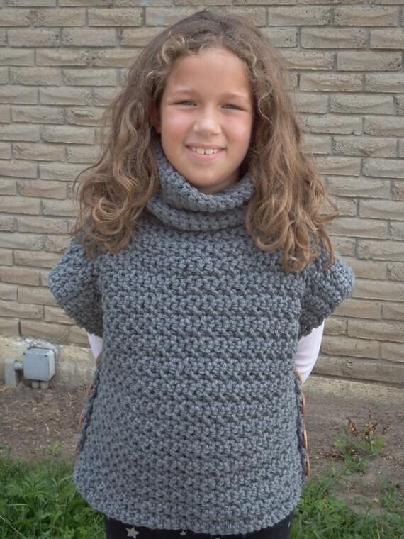 Cowl Neck Sweater Poncho