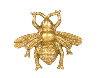 Golden Gold Busy Bee Drawer Knob Drawer Handle