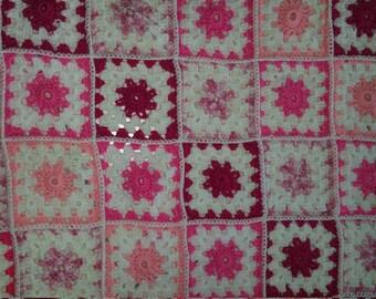 Baby girl cot crochet blanket