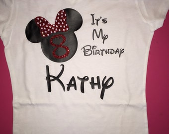 Minnie mouse its my birthday birthday shirt disney shirt