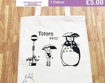 Studio Ghibli My Neighbour Totoro (Anime Film) Natural Tote Canvas Shopper Bag Version02