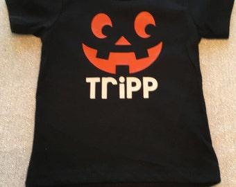 Halloween Shirt, Pumpkin Shirt, Pumpkin Face Shirt, Personalized Fall Shirt, Pumpkin Face T-Shirt, Halloween T-Shirt