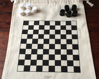 game of checkers fabric
