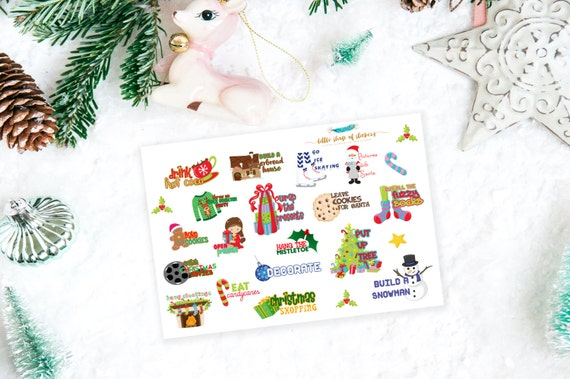 Christmas Bucketlist Planner Stickers, Winter Bucketlist, Planner Stickers, Stickers for Planning, Christmas Stickers, Winter Stickers