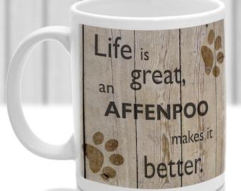Affenpoo dog mug, Affenpoo dog gift, dog breed mug, ideal present for dog lover