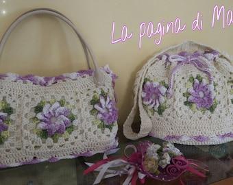 Crocheted spring purse