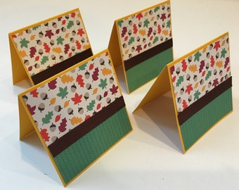 Set of 4 Fall note cards