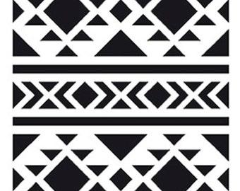 Stencil geometric Tribal 10 x 15 cm - stencil ethnic - Tribal Stencil