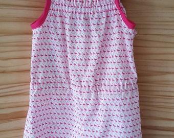Age 3 flamingo print cotton playsuit/romper and headband set.