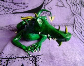 swamp dragon discworld / terry pratchett inspired fantasy model