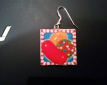 Candy crush earrings hand made