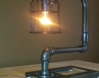 Industrial Style Table Lamp *Dimmable*