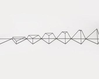Growth Triangle Set of 7 - Handmade Wireframe Decor - JY DesignLab