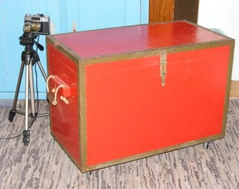 Old Wooden Military Trunk Upcycled