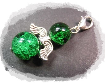 Guardian Angel green silver Guardian Angel Wings silver