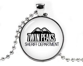Twin Peaks Necklace Pendant Twin Peaks Sheriff Department Fandom Jewelry Geeky Jewelry