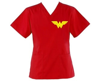 WonderWoman Scrub Top
