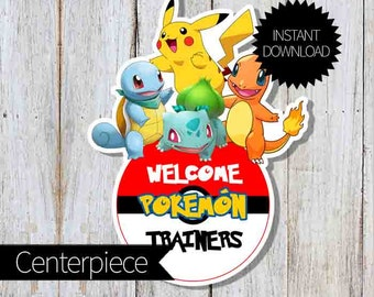 Pokemon GO Birthday Party PRINTABLE Large Centerpiece- Instant Download | Pokémon Go| Welcome Sign
