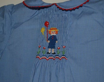 12M Summer Dress Girl with Balloon