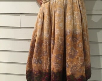 Ombre Gathered Skirt