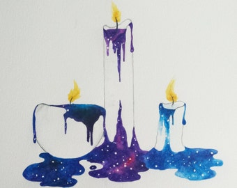 Cosmic Candlelight 8x10 print
