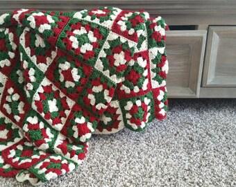 Christmas Blanket - Crochet