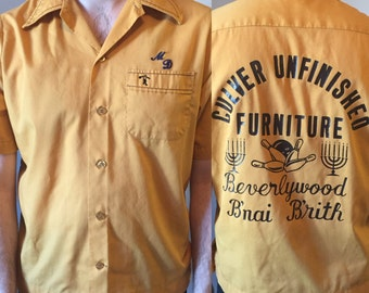 1960's / 1970's Vintage Bowling Shirt Size Medium King Louie